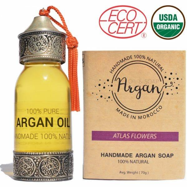 pure argan oil + argan soap moroccan