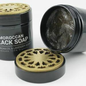 Moroccan Black Soap with argan oil & lavender scent