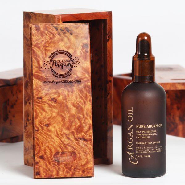 argan oil wood box
