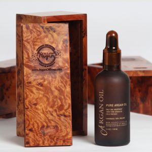 argan oil hair wooden boc