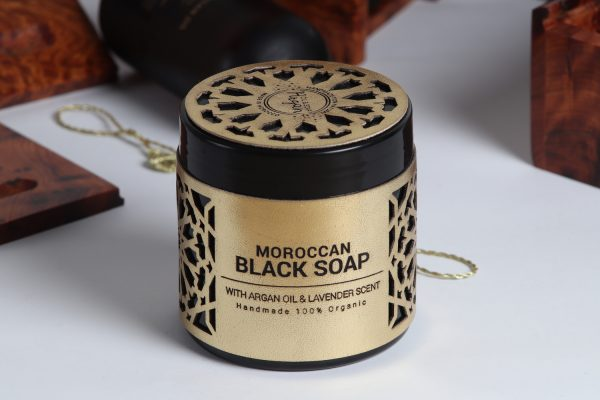 moroccan black soap with argan oi