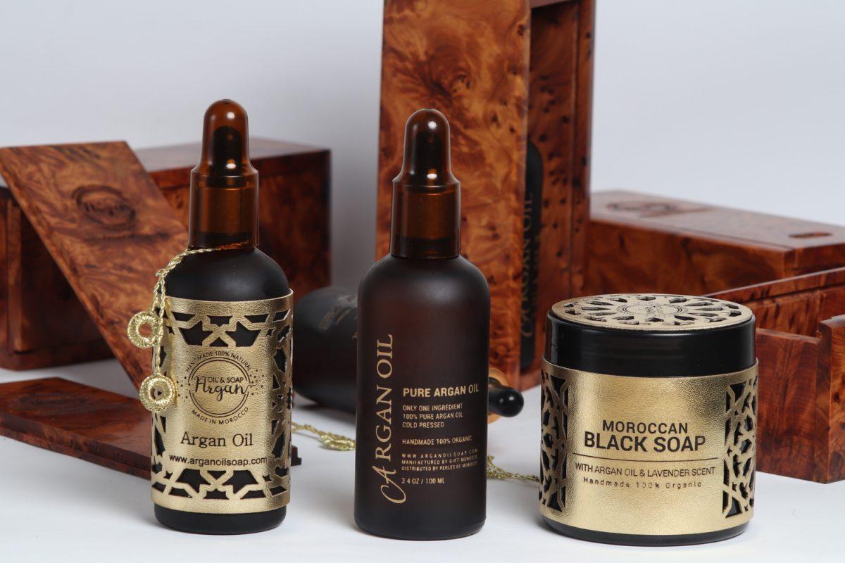 argan oil gift box wooden